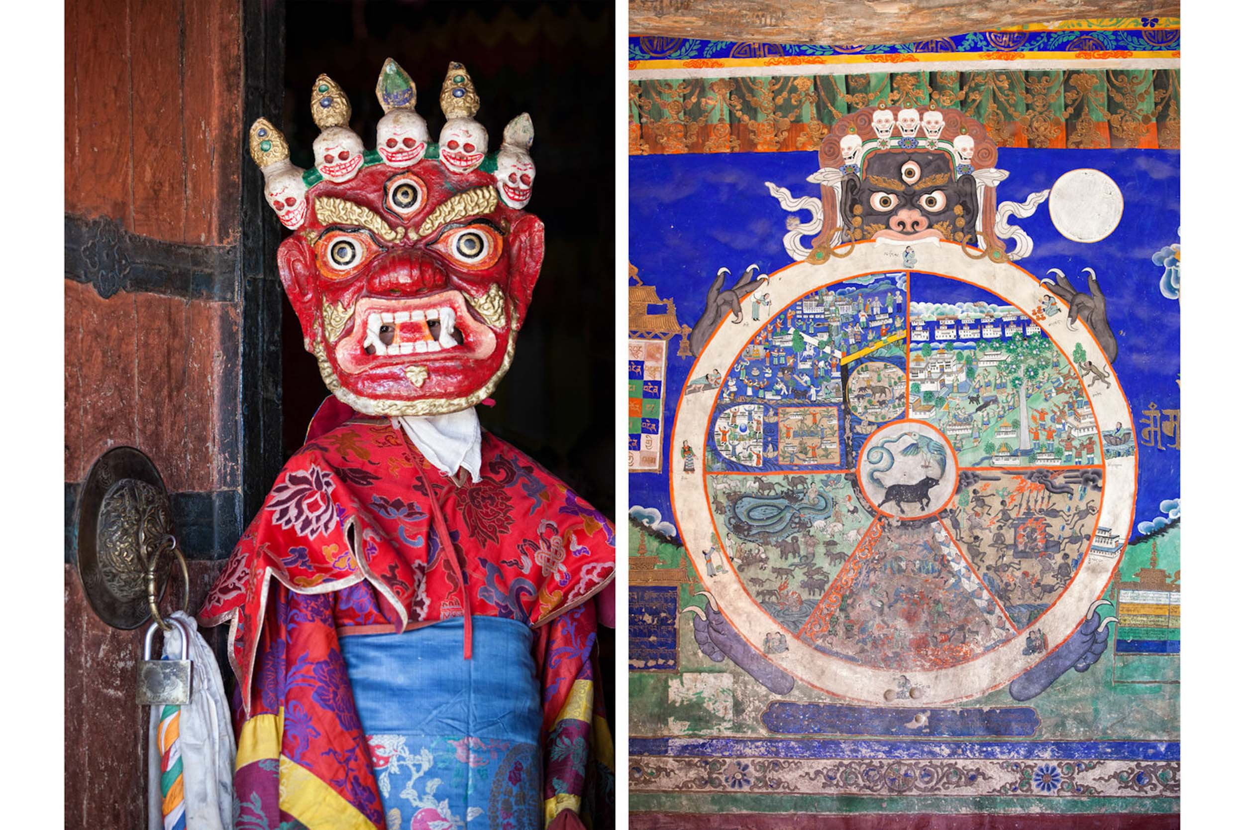 Travel-India-Ladakh-Leh-Thiksey-Buddhist-Monastery-Mask-Mural