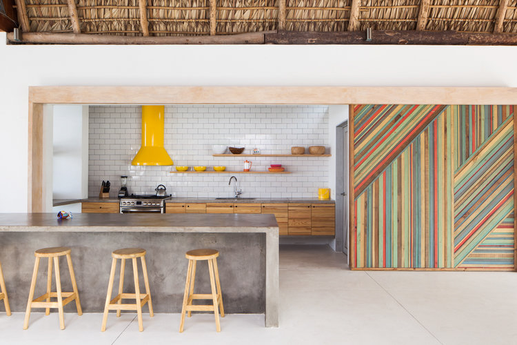 Residential architecture - Interior kitchen of beach house